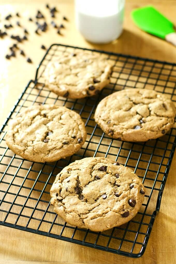 Almond Butter Chocolate Chip Cookies from Cook Eat Paleo