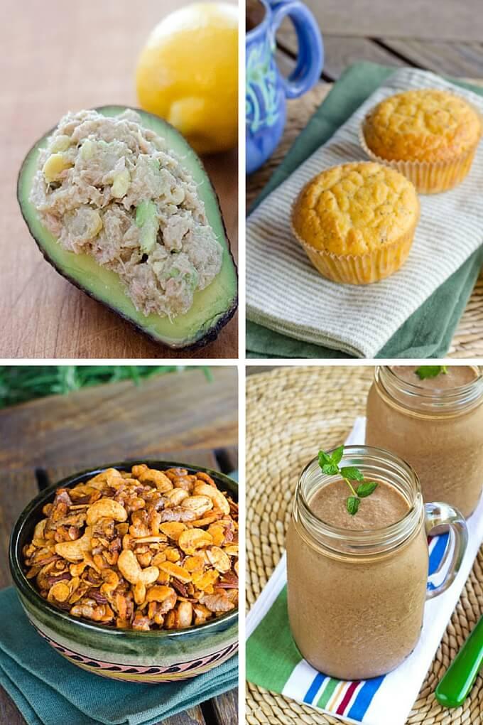Easy paleo snacks collage