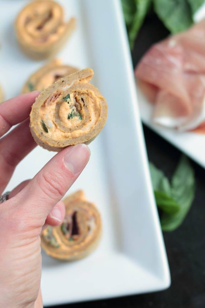 These paleo plantain pinwheels with a creamy prosciutto filling are the perfect make-ahead appetizer for any get together.