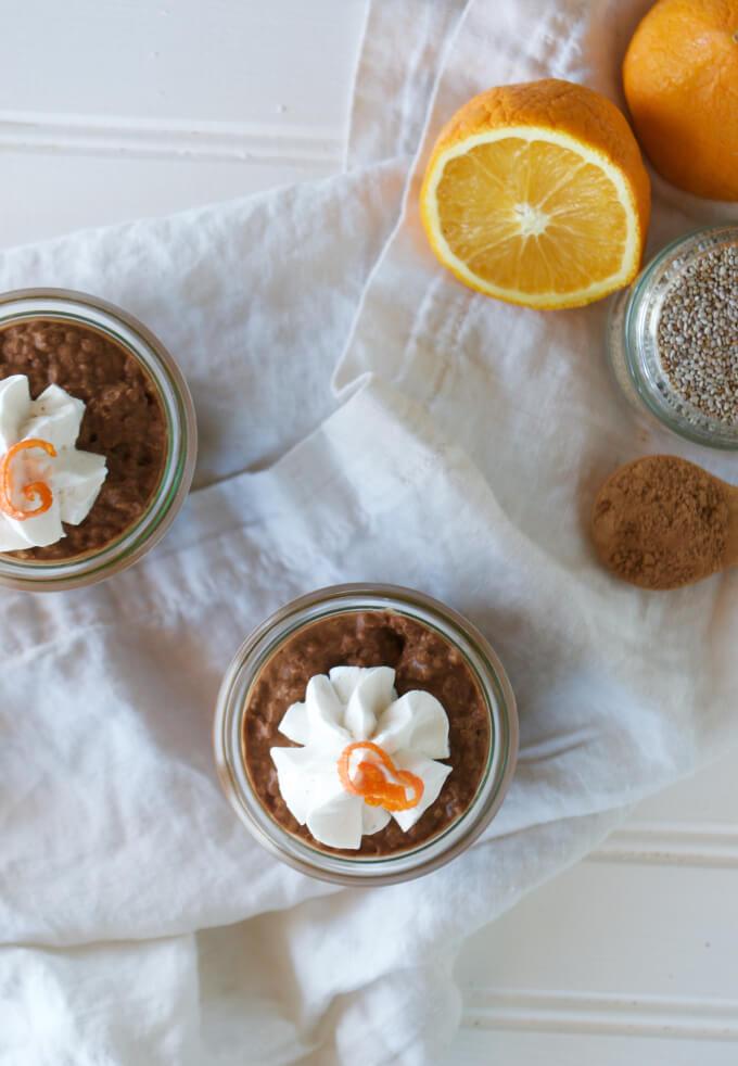 Chocolate Orange Chia Pudding (Dairy Free, Paleo, Gluten Free, Vegan)