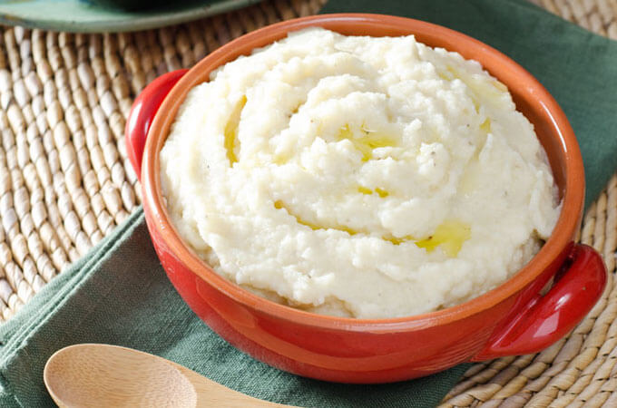 Mashed Cauliflower & Celery Root | Easy Paleo Valentine's Day Dinner Menu