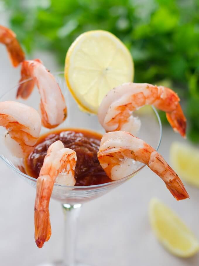 Easy Shrimp Cocktail - Keto Christmas Recipes