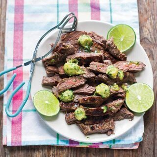 Marinated Skirt Steak with Cilantro-Lime Ghee