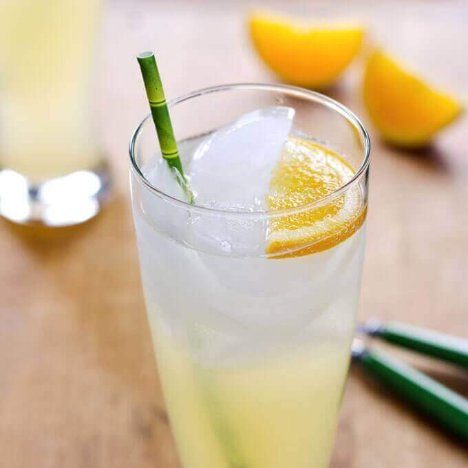 Easy Lemonade Recipe with Honey - an icy cool drink with a healthy twist and no refined sugar. | Cook Eat Paleo