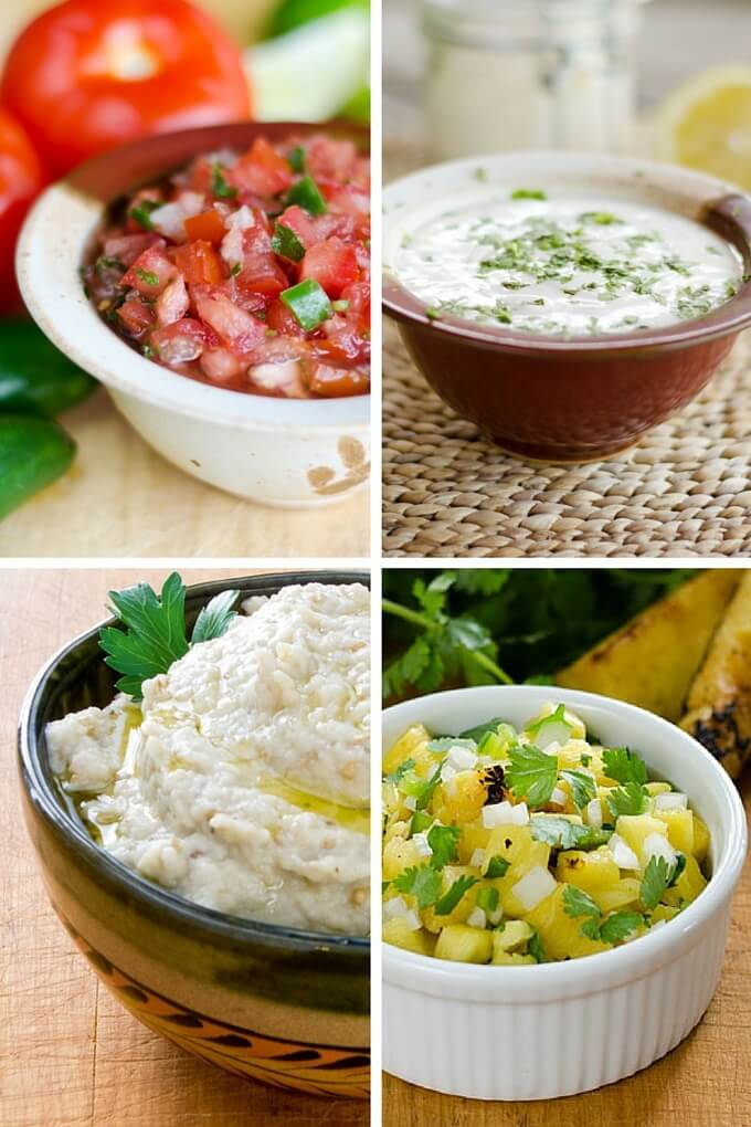 9 Easy Paleo Dip & Salsa Recipes - Easy paleo dips and salsas perfect for snacking or easy entertaining. All are gluten-free, grain-free, dairy-free, and sure to please a crowd. | Cook Eat Paleo