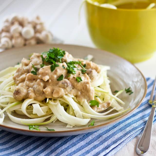 Chicken Zucchini Fettuccine - Easy Paleo Chicken Recipes for Dinner