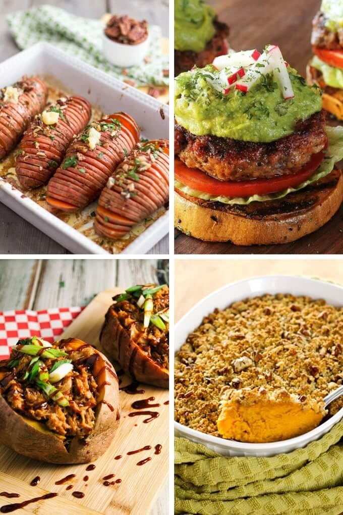 Easy sweet potato recipes from hasselback to casseroles to stuffed sweet potato to sliders.