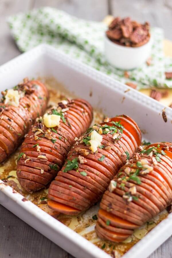Hasselback Sweet Potatoes – The Healthy Foodie | Easy Paleo Sweet Potato Recipes