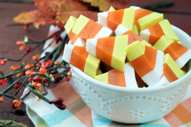 Candy Corn Gummies – Plaid and Paleo | Easy Halloween Treats That Are Gluten and Dairy Free