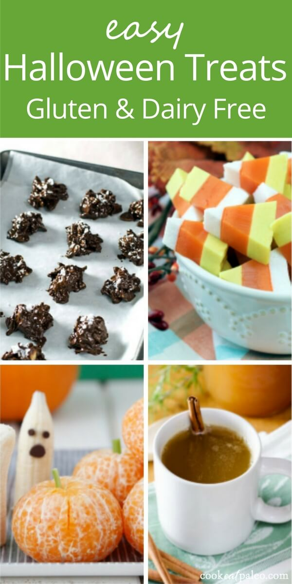 Easy Halloween treats that are gluten and dairy free—all the joys (read candy and treats!) of Halloween without gluten and dairy? Yes please! Chocolate...
