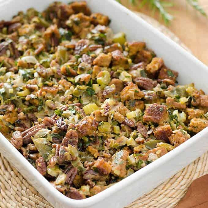 Paleo Cornbread Dressing - Easy Paleo Thanksgiving Sides | Cook Eat Paleo