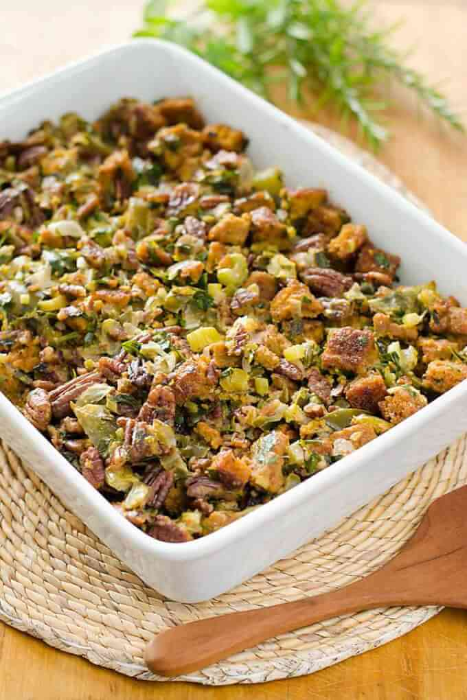 Gluten-free stuffing - this paleo cornbread dressing recipe is grain-free, but full of traditional Thanksgiving holiday flavors. | Cook Eat Paleo