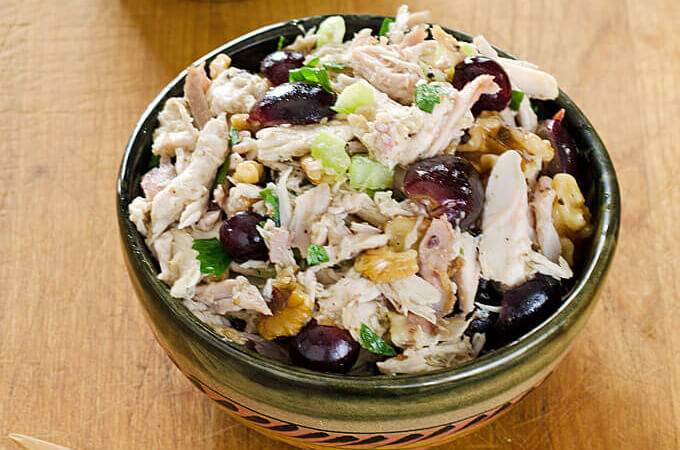 Chicken Salad with Grapes and Walnuts | Cook Eat Paleo