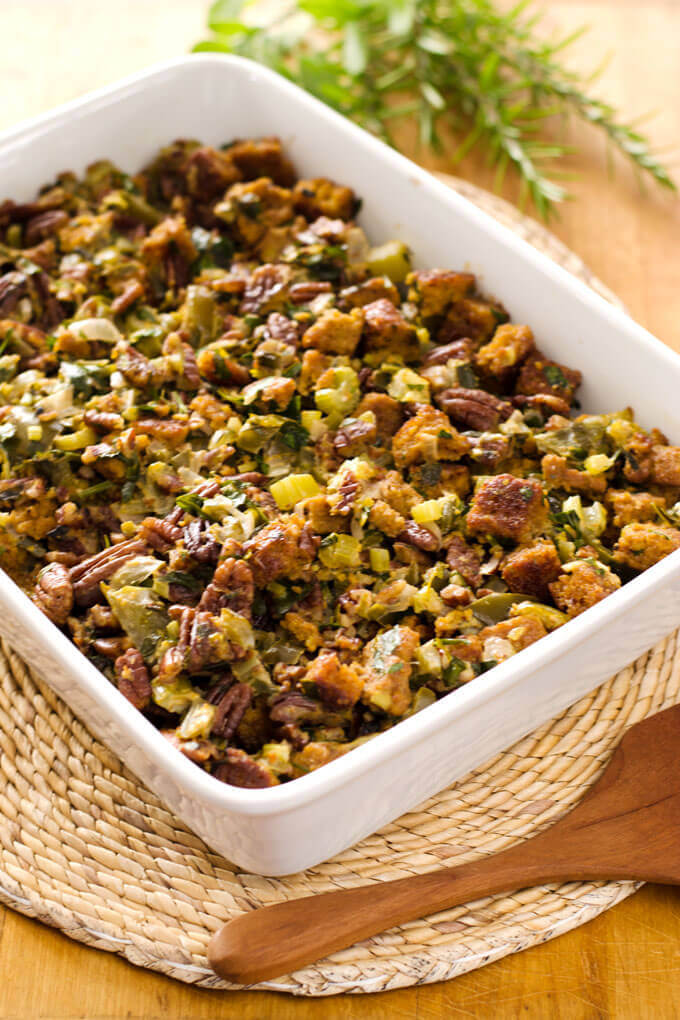 Paleo Thanksgiving Stuffing | gluten-free cornbread dressing recipe