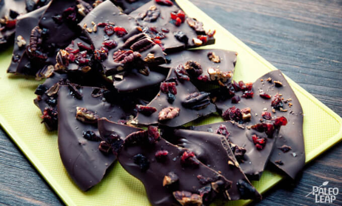 Sweet Salty Chocolate Bark – Paleo Leap | 10 Easy Chocolate Recipes that are Dairy Free | Gluten Free Paleo Recipes