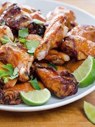 Chicken wings platter