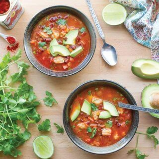Spicy Shrimp and Chorizo Soup
