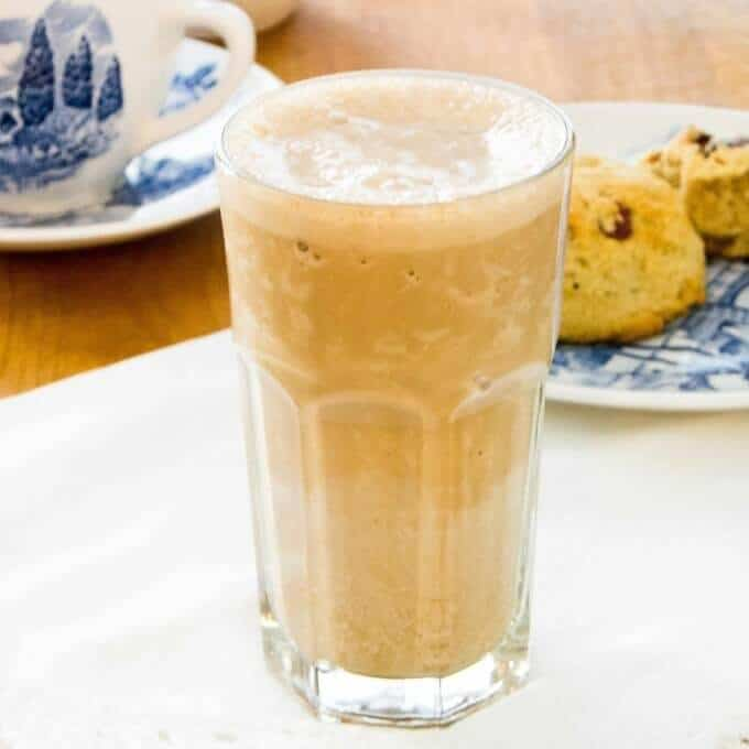 Espresso Protein Shake is creamy and thick like a frozen coffee shop drink | gluten-free, dairy-free, paleo recipe