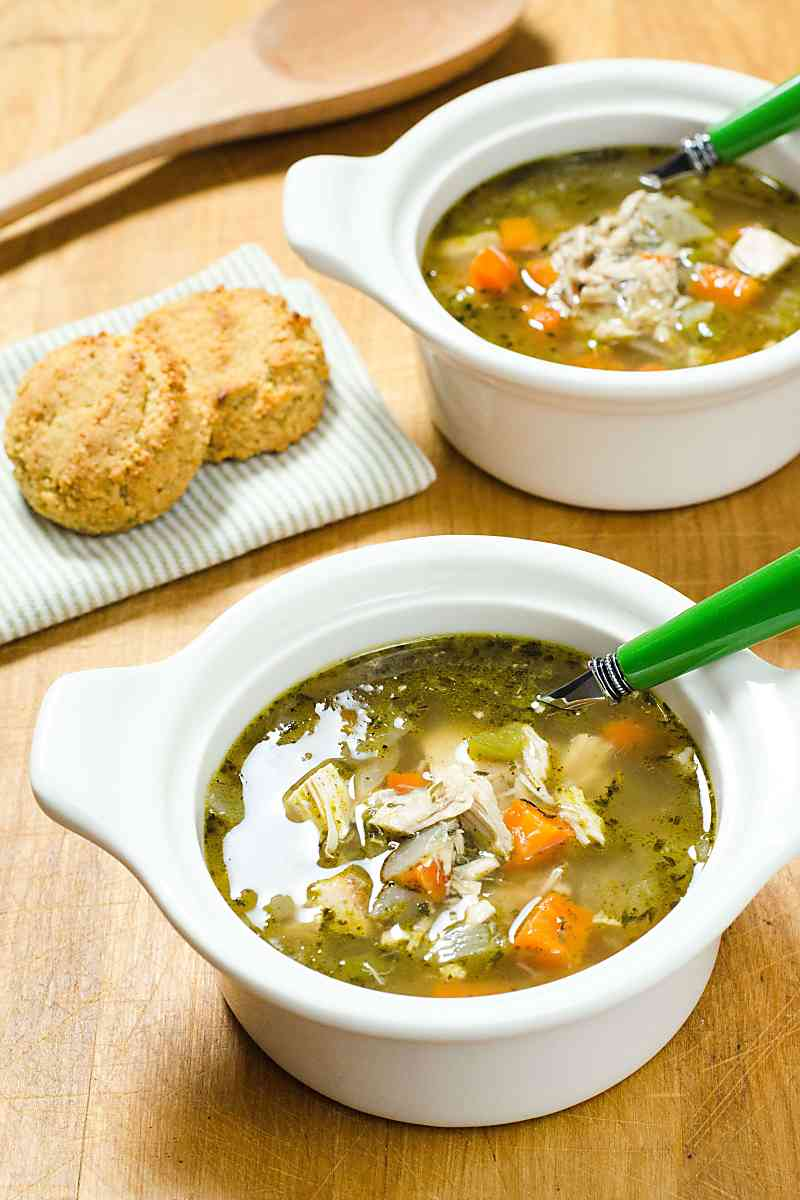 Easy Rotisserie Chicken Soup in a Hurry