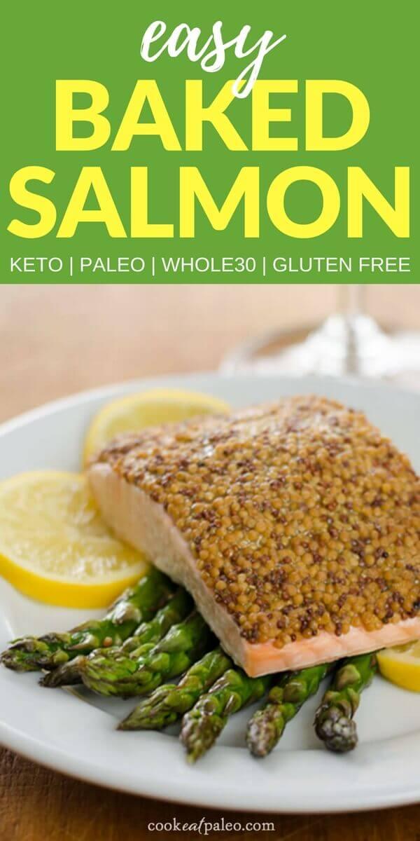 Easy Baked Salmon with Roasted Asparagus (Paleo, Keto, Whole30)