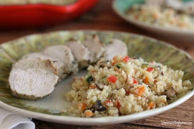 Veggie Confetti Cauliflower Rice - The Nourishing Home | Cauliflower Rice Recipes