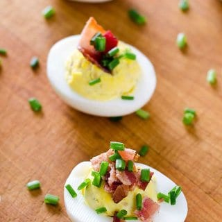 Deviled Eggs with Bacon and Chives – Cook Eat Paleo