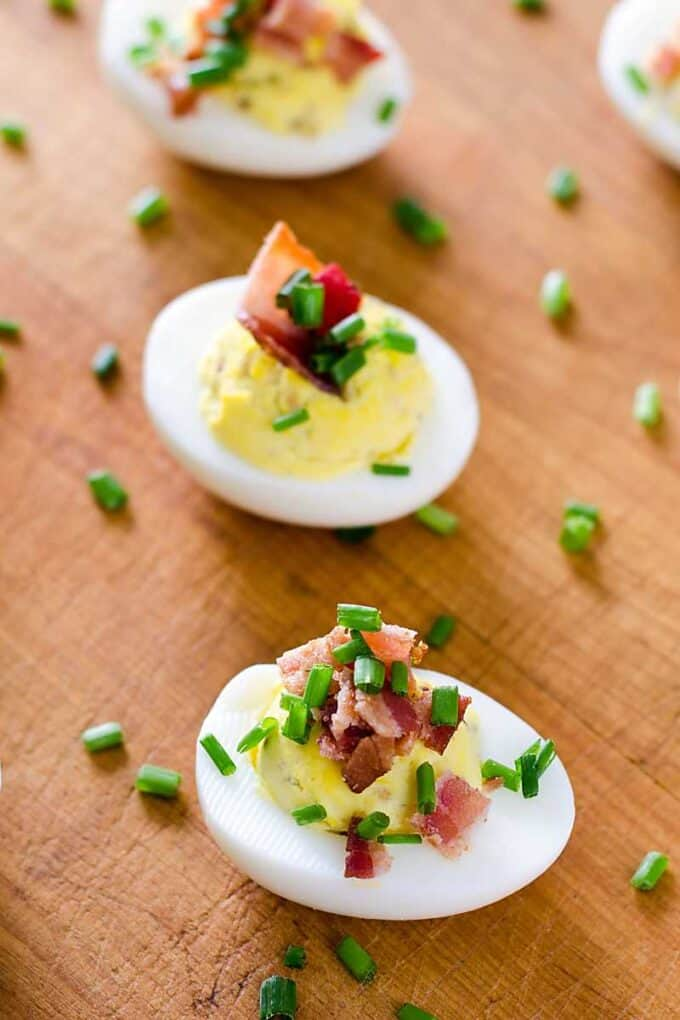 Easy keto deviled eggs