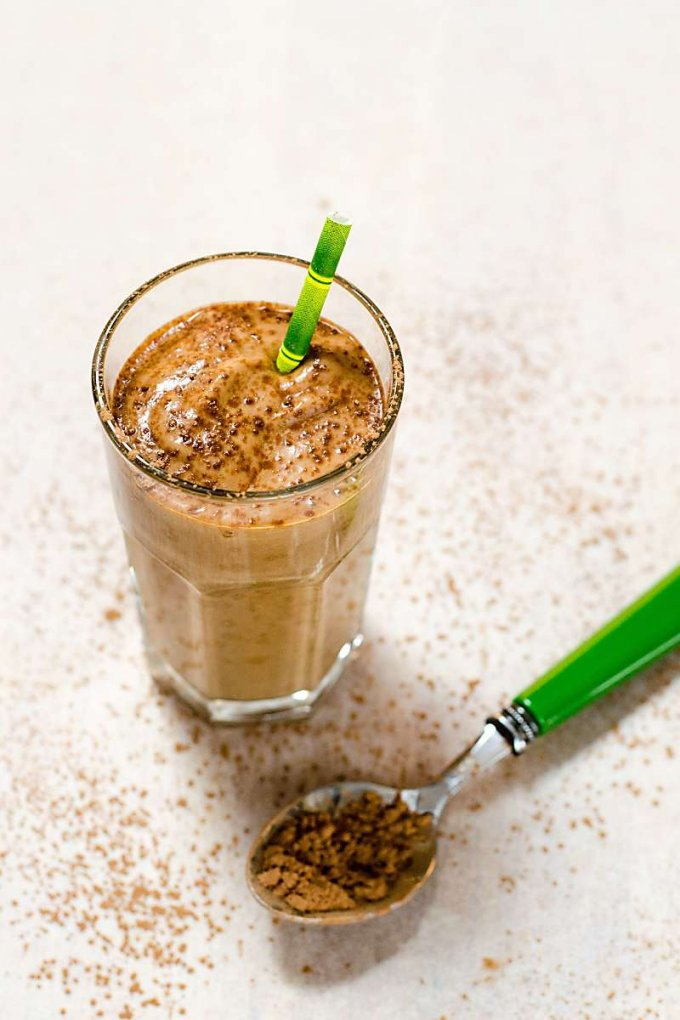 Healthy Avocado Smoothie with Cacao and Collagen | Paleo Recipe | Gluten Free Dairy Free