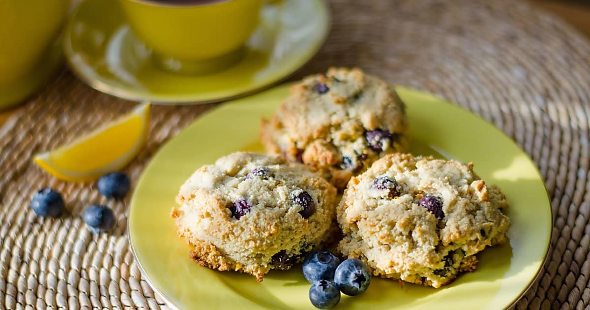 Lemon Blueberry Scones (Paleo, Gluten Free, Dairy Free)