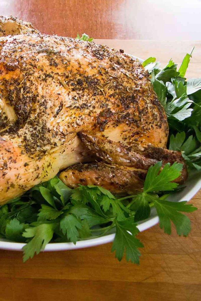 Easy keto roast chicken