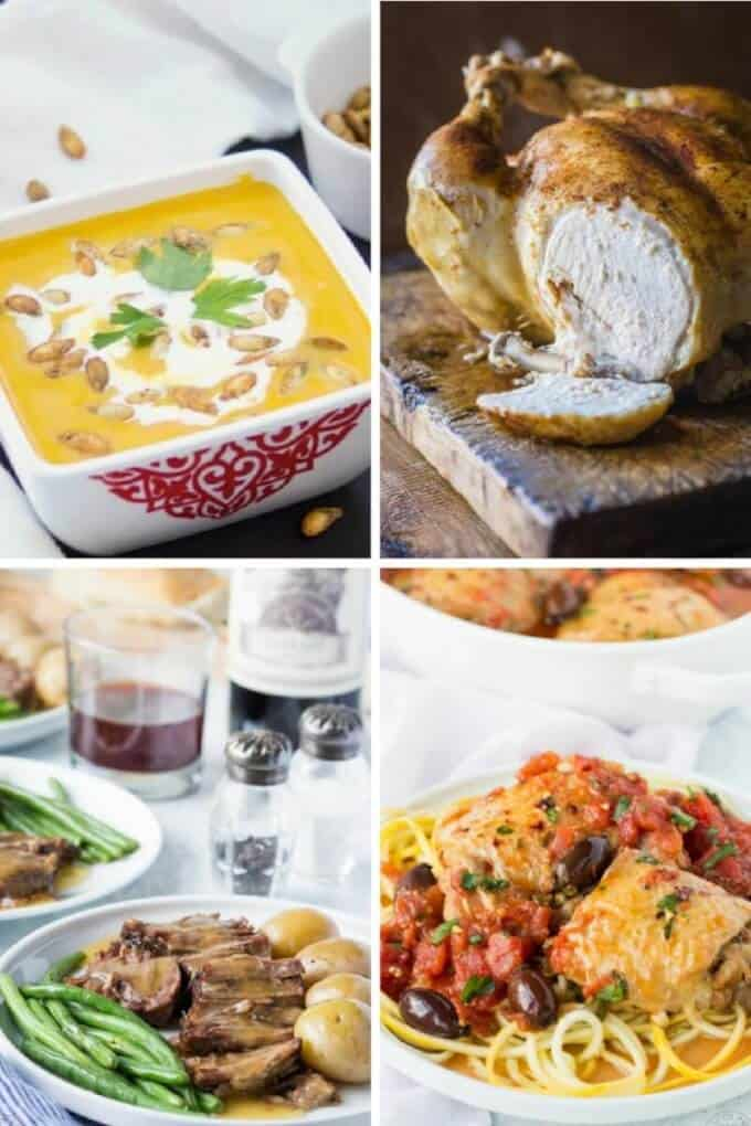 Paleo Instant Pot Recipes - Whole chicken, pot roast, squash soup and more