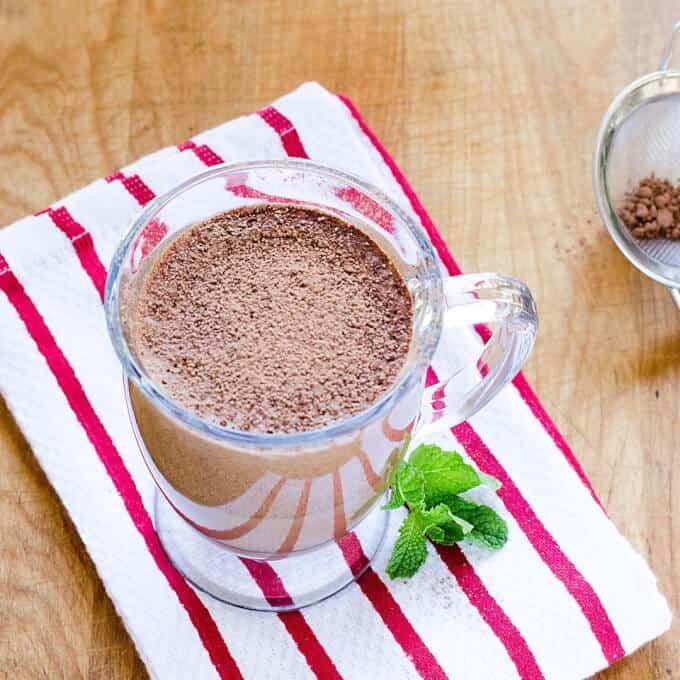 Peppermint Mocha Protein Shake