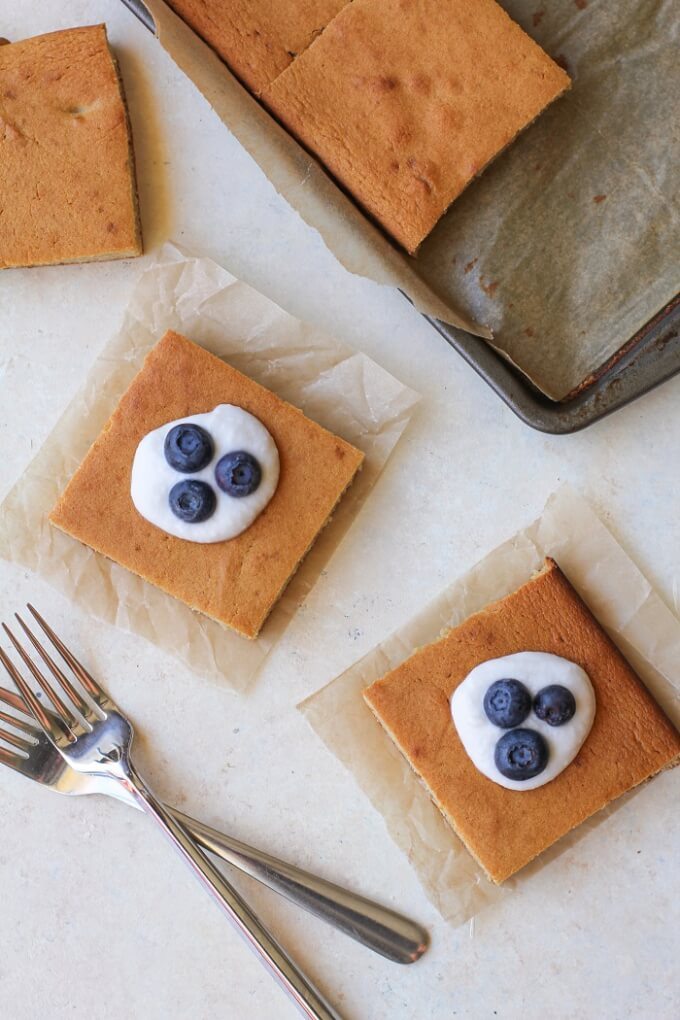 Paleo Vanilla Sheet Cake - The Roasted Root