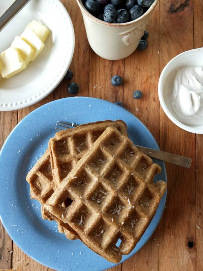 Coconut Flour Waffles - Cook It Up Paleo