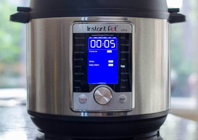 Instant Pot Ultra settings for hard boiled eggs using Egg function