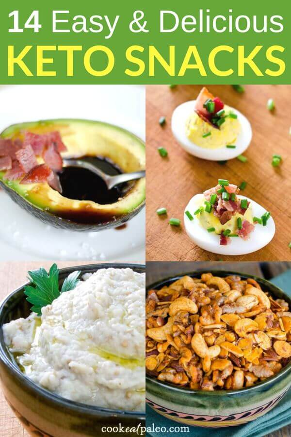 Looking for keto-friendly foods to fight a snack attack? We've got you covered with these 14 easy and delicious keto snack recipes. These recipes are simple, fast and will give you plenty of keto snack ideas to enjoy and share. #ketosnacks #ketorecipes #lowcarb #paleo #glutenfree #cookeatpaleo