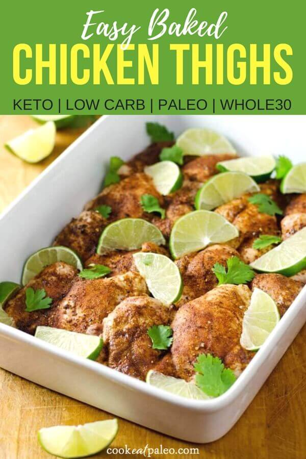Chili Roasted Chicken Thighs (Paleo, Keto, Whole30)