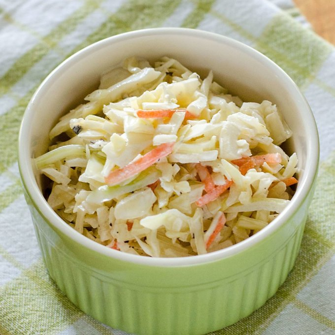 Coleslaw with cabbage and carrots