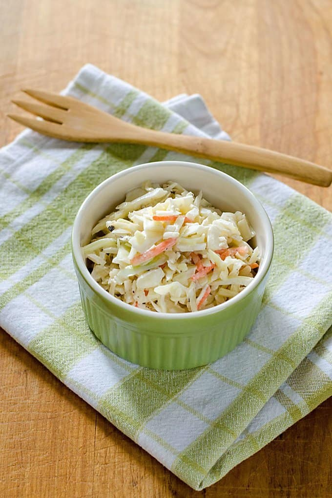 Creamy coleslaw with carrots