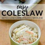 easy coleslaw recipe keto low carb paleo whole30