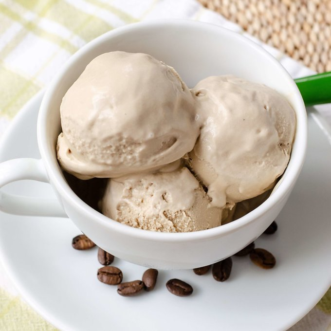 dairy-free coffee ice cream (paleo, vegan)