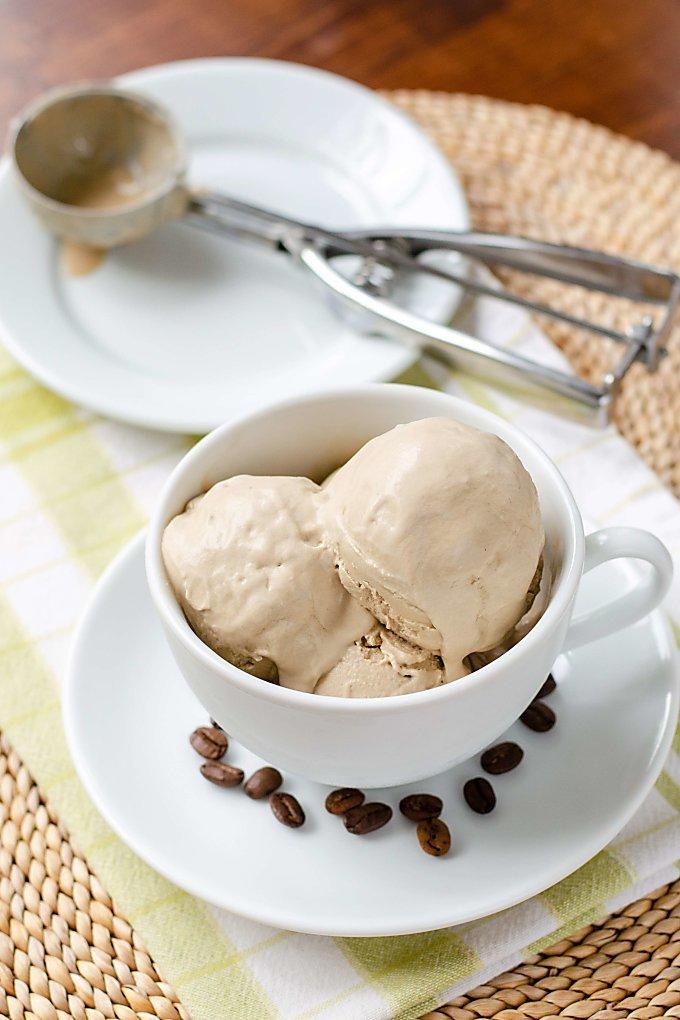 Coffee ice cream paleo vegan dairy free cook eat paleo dairy free ice cream in coffee cup ice cream scoop ccuart Image collections
