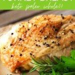 Easy baked turkey breast keto paleo whole30