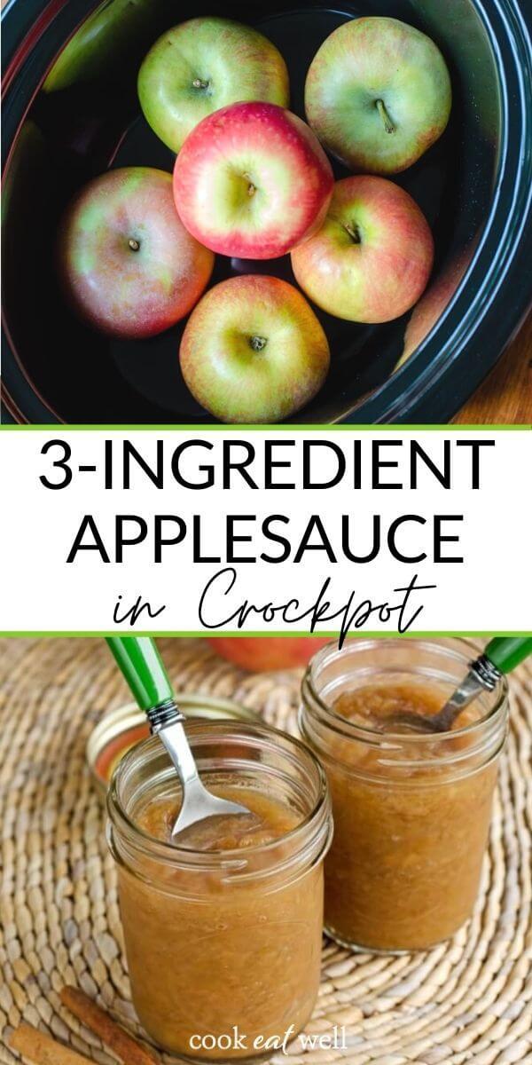 3-Ingredient Crock Pot Applesauce (Paleo, Vegan, Whole30)
