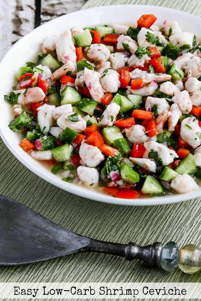 Easy Low-Carb Shrimp Ceviche from Kalyn's Kitchen