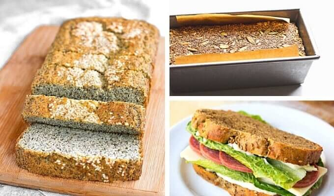20 Easy Keto Bread Recipes - sandwich bread, loaf bread - Cook Eat Paleo