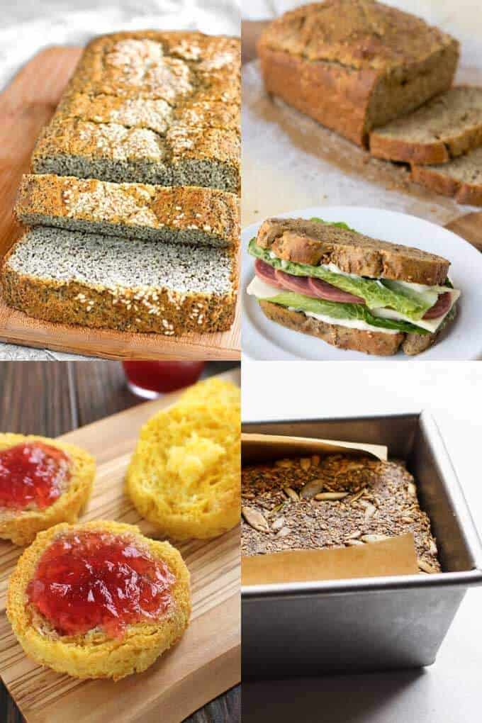 Keto breads - sandwich loaf, English muffin, seed bread