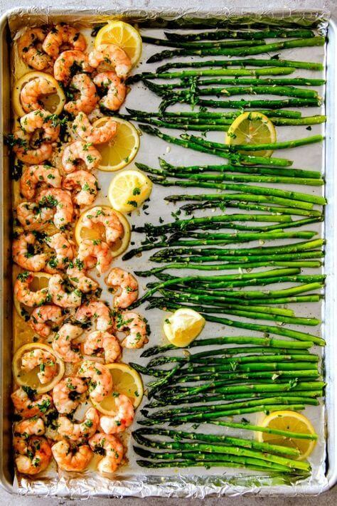 Roasted Lemon Butter Garlic Shrimp Recipe from Carlsbad Cravings