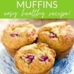 Orange cranberry muffins - easy healthy recipe!