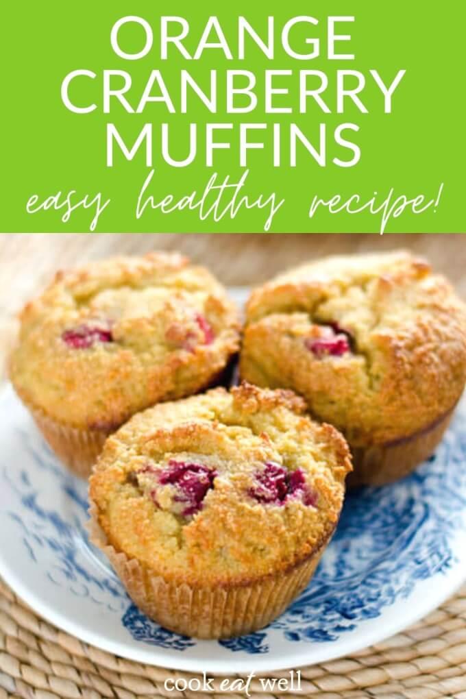Paleo Cranberry Orange Muffins (Gluten Free, Grain Free, Dairy Free)